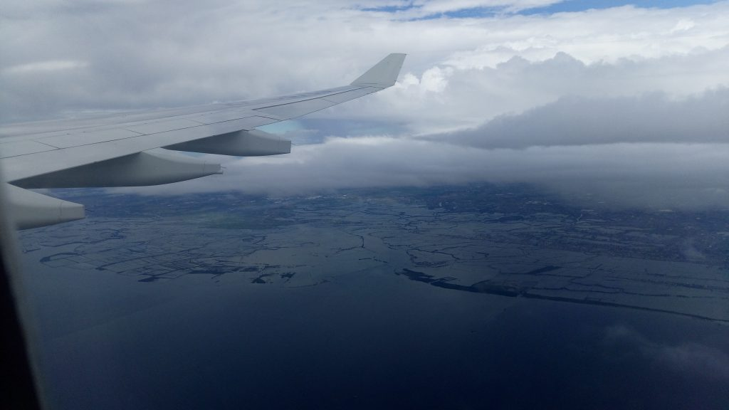 飛行機からフィリピンの景色