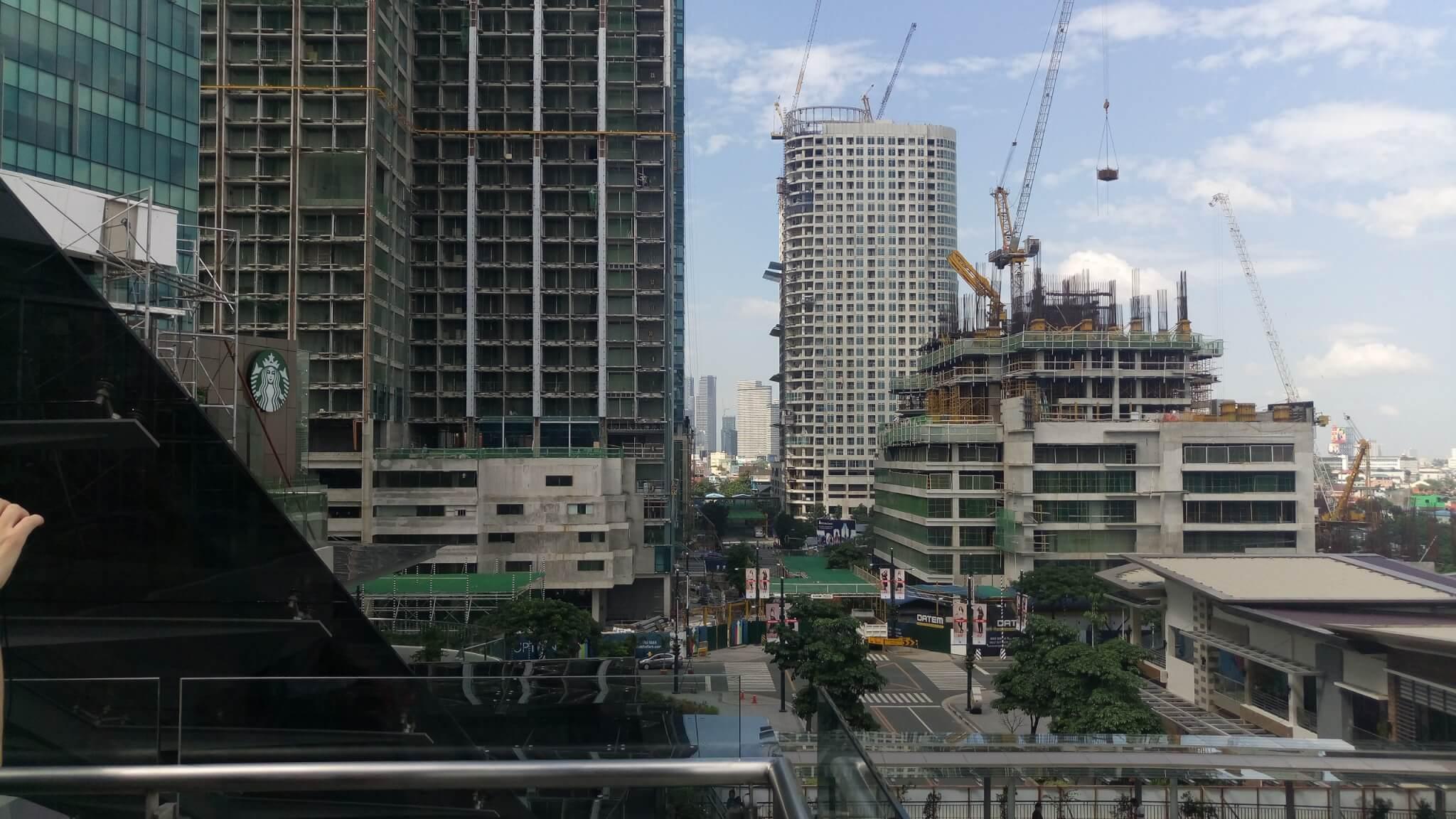 マニラ建設中の景色