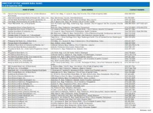 PDICの銀行登録リスト