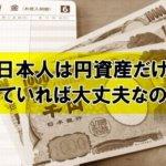 日本人は円資産だけ持っていれば大丈夫なのか?